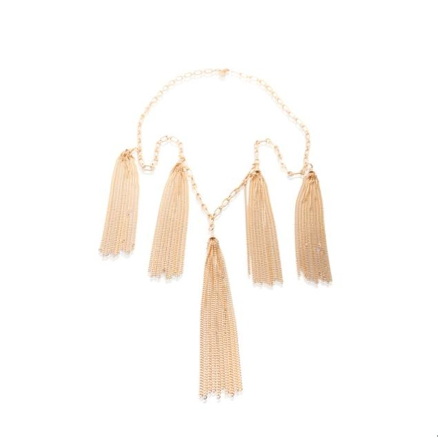 Jolly multiple fringes ketting - Rosé