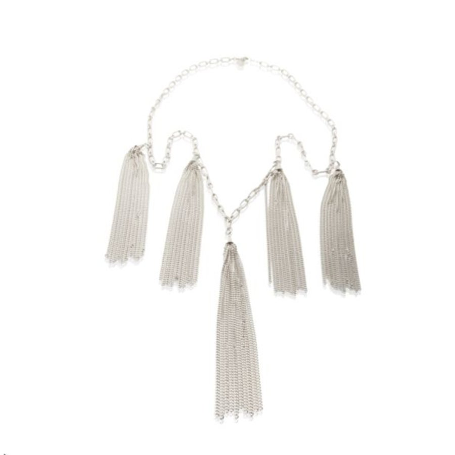 Jolly multiple fringes necklace - Silver