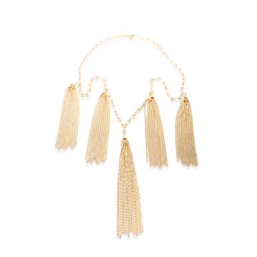 Jolly multiple fringes necklace - Gold