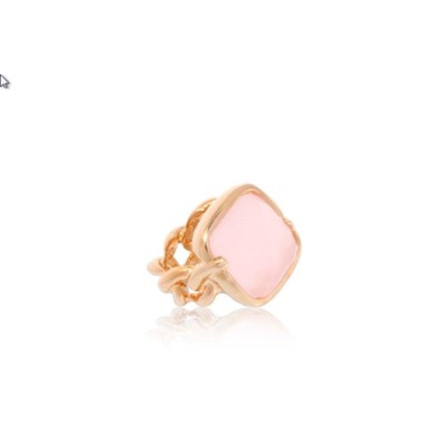 Rock it gourmet ring - Rosé/ Rosé quartz