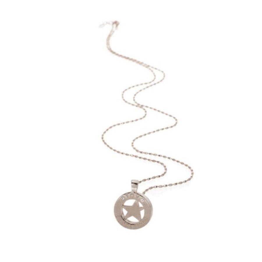 Medaillon small 85 cm necklace - Silver/ Rising star
