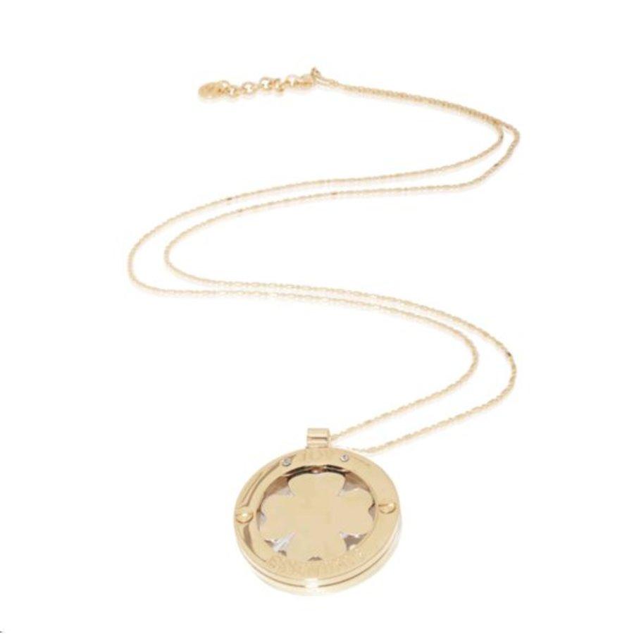 4leaf medaillon necklace - light gold