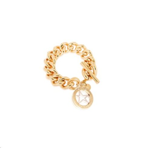 Medaillon armband - Goud/ Ster pendant
