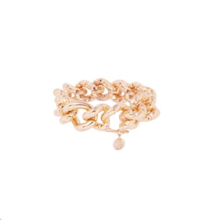 Hammered gourmet armband - Rosé