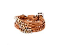Lot's of cord multi breads - Armband - Cognac/ Goud-Witgoud - Goud-Rosé
