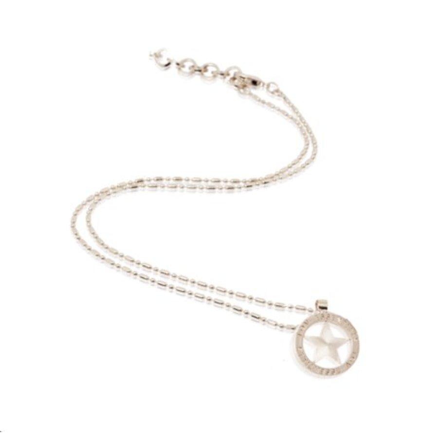 Small medaillon necklace - Silver/ Star coin 2cm