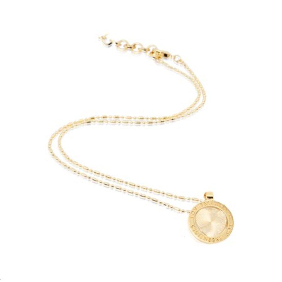 Small medaillon ketting - Goud/ Hart munt 2cm