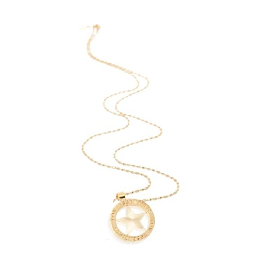 Medaillon necklace - Gold/ Star coin 3cm