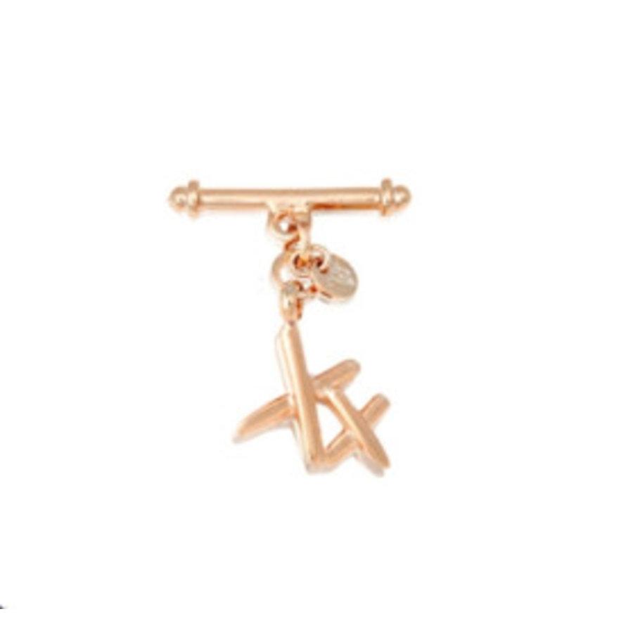 Xx pendant armband - Rosé