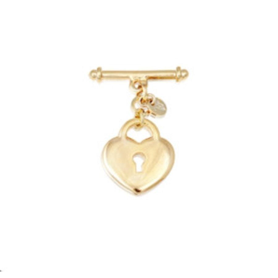 Lock pendant armband - Goud