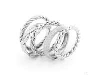Set 5 rings - Silver