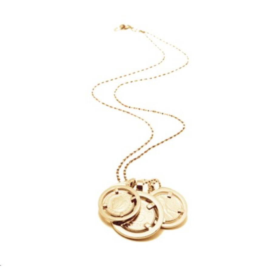 Triple coins necklace - Gold
