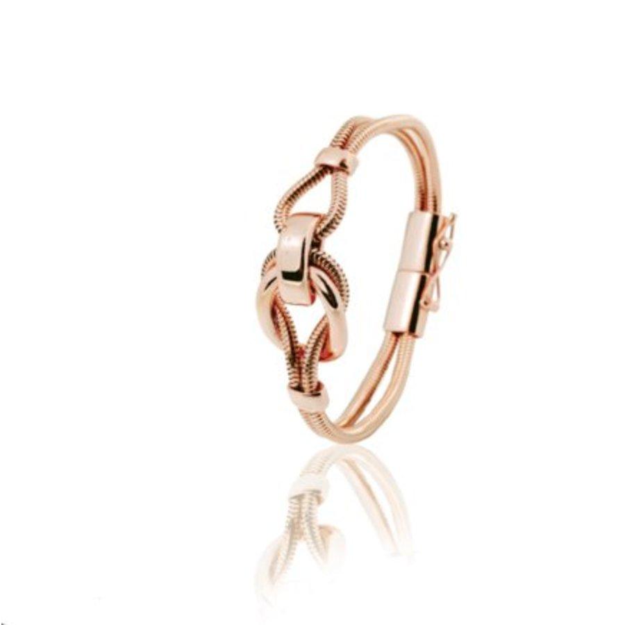 Big metal eclips bracelets - Rose