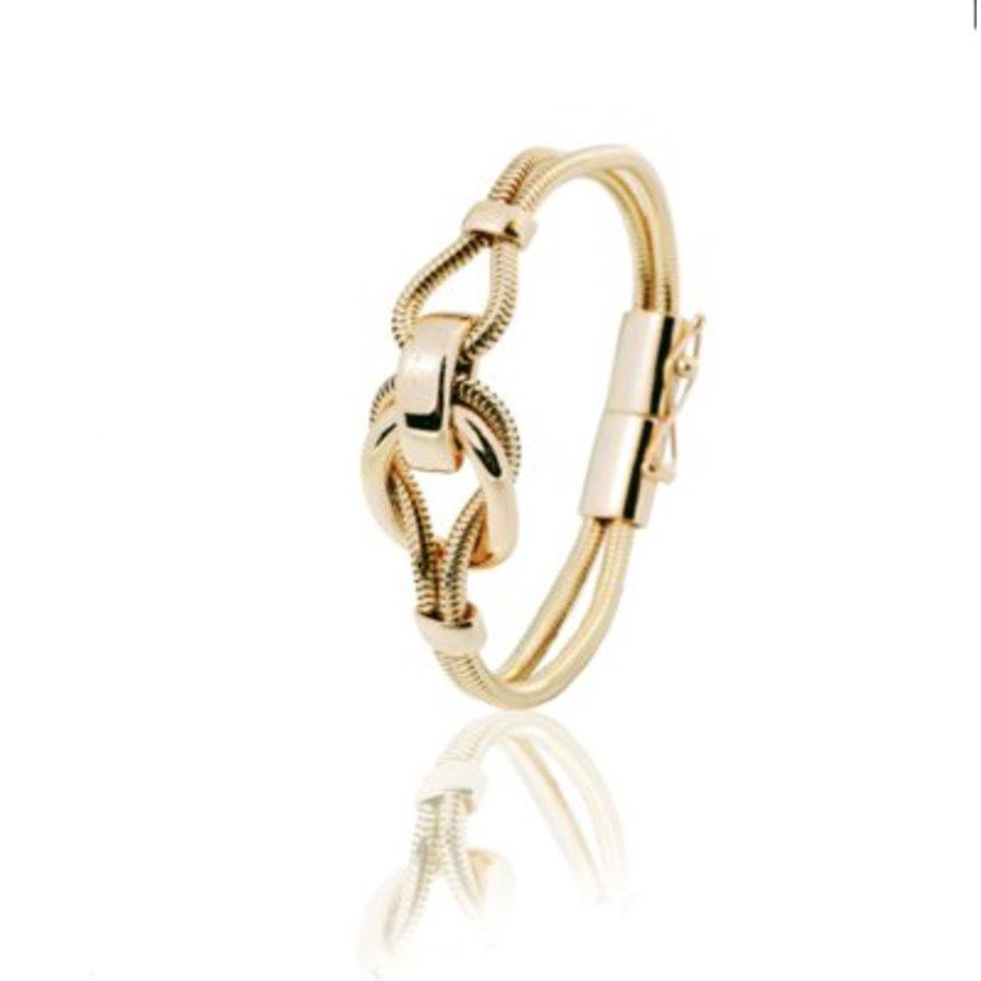Big metal eclips bracelets - Gold
