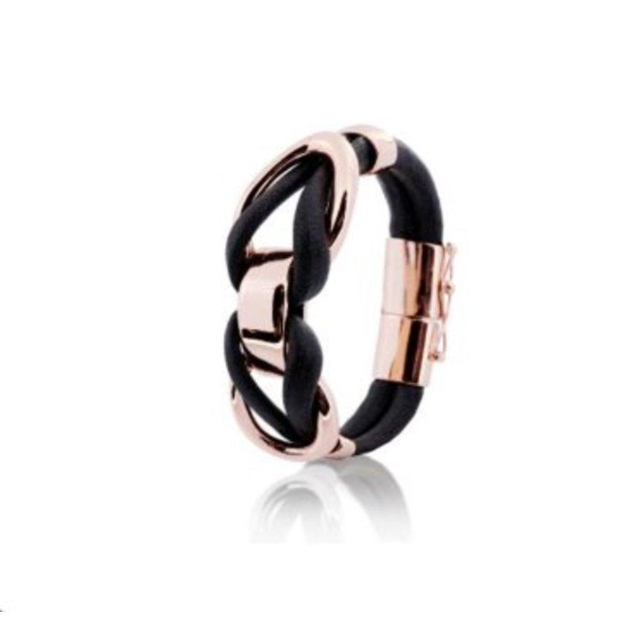 Eclips big cord bracelets - Rose/ Cognac