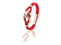 Eclips small cord armband 18 - Rosé/ Rood