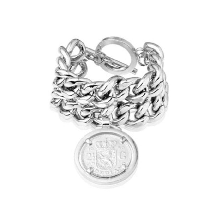 Double chain armband - Zilver