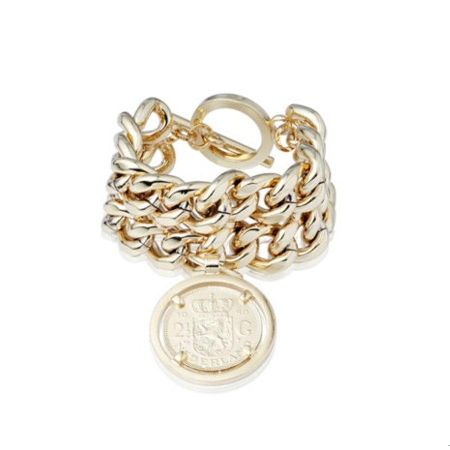 Double chain bracelet - Light gold