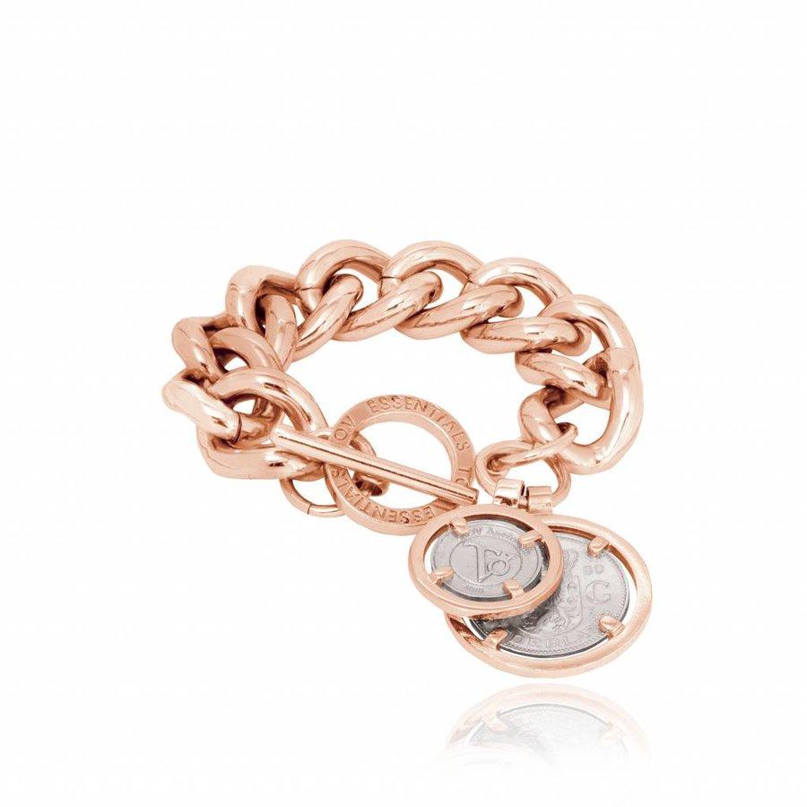 Bi colour solochain armband - Rosé