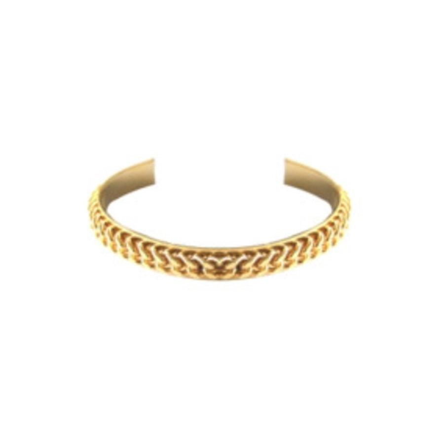 Love flat chain cuff - Gold