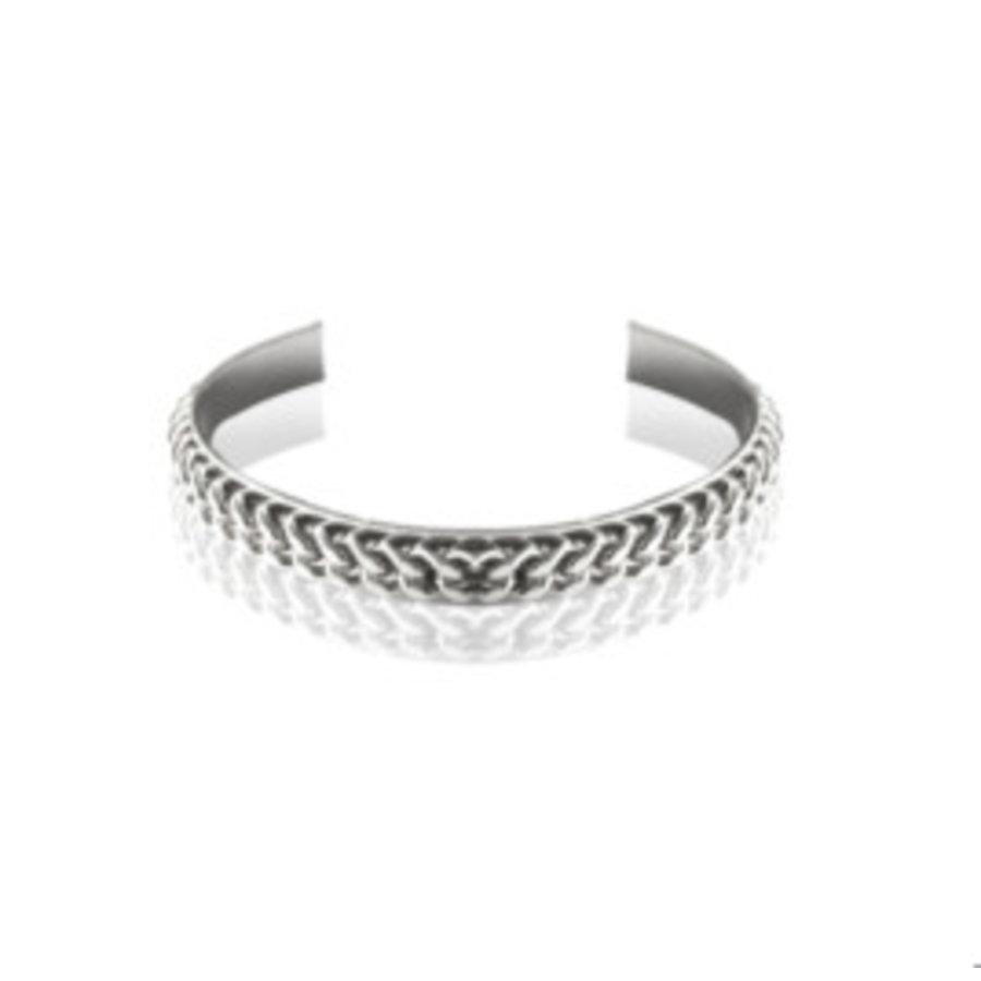 Love flat chain cuff - Zilver