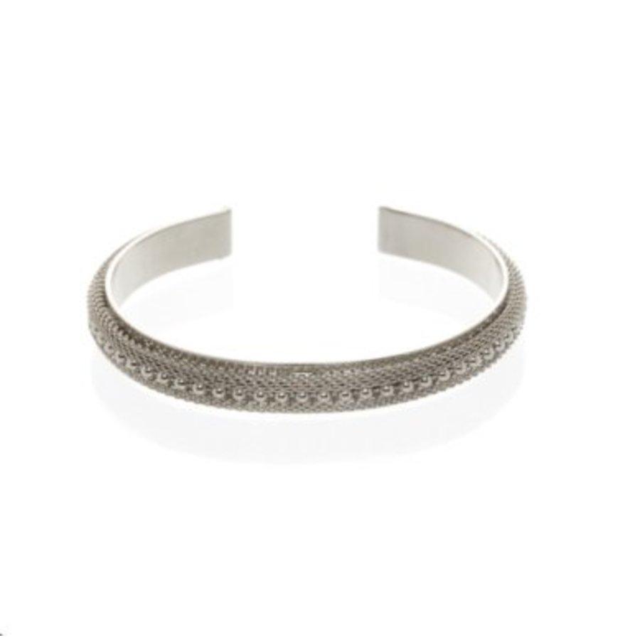 Love mesh cuff - Silver