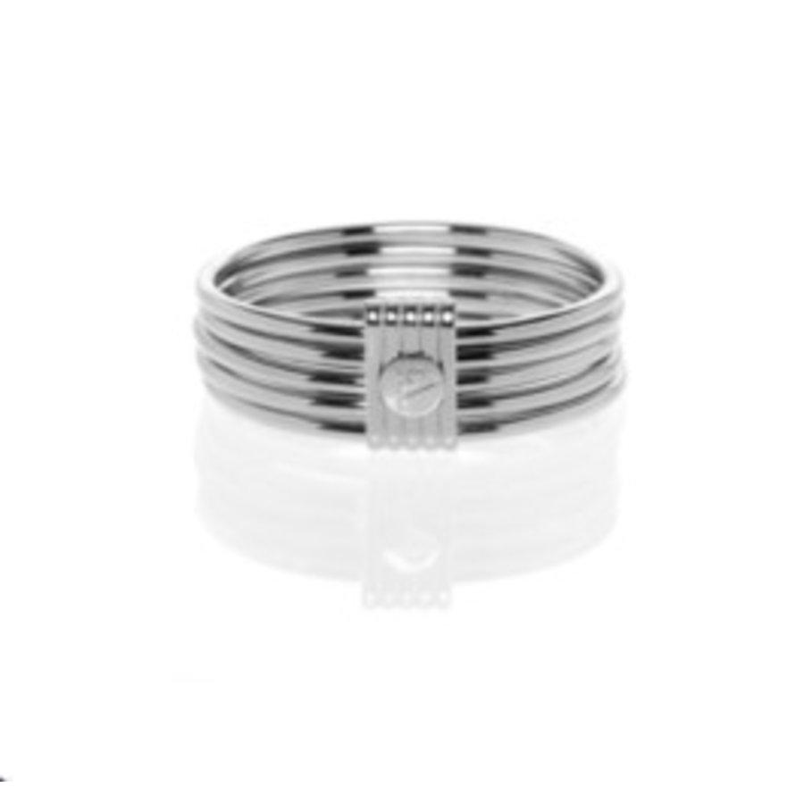5 Bangles - Silver
