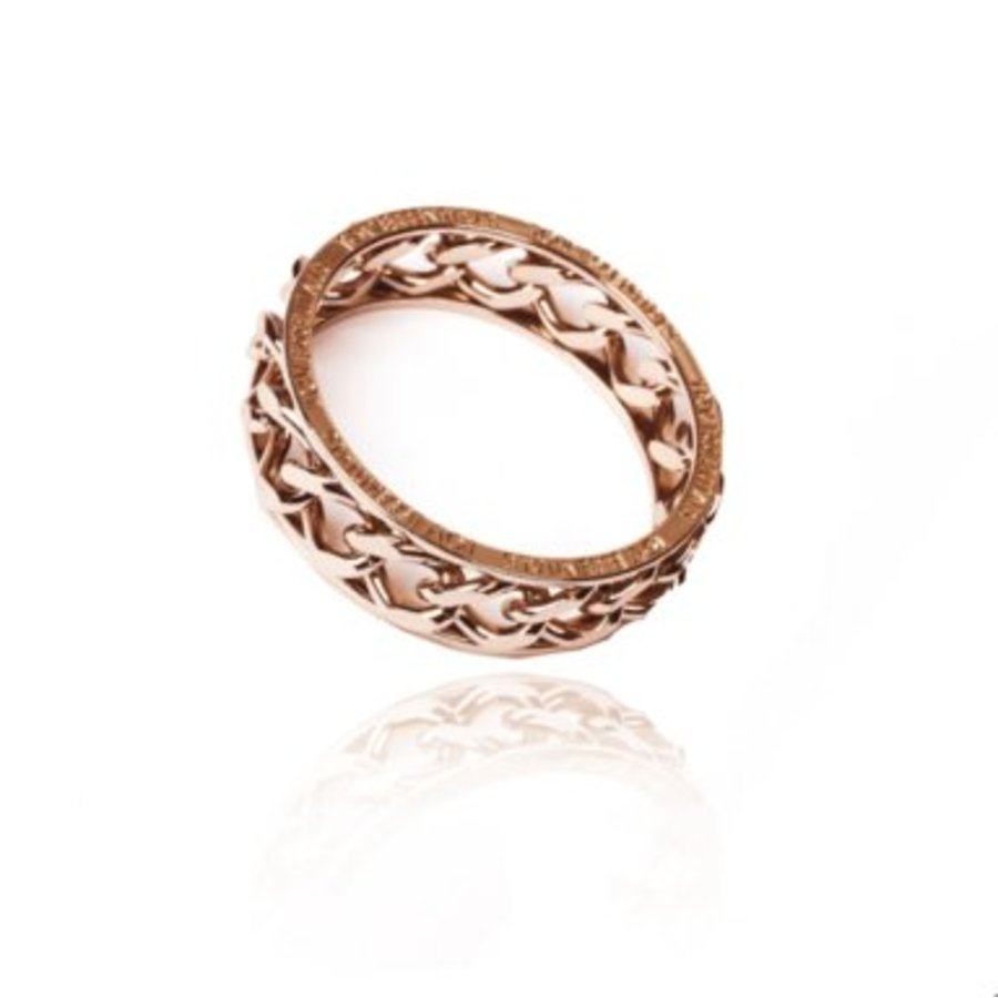 Big chain bangle - Rose