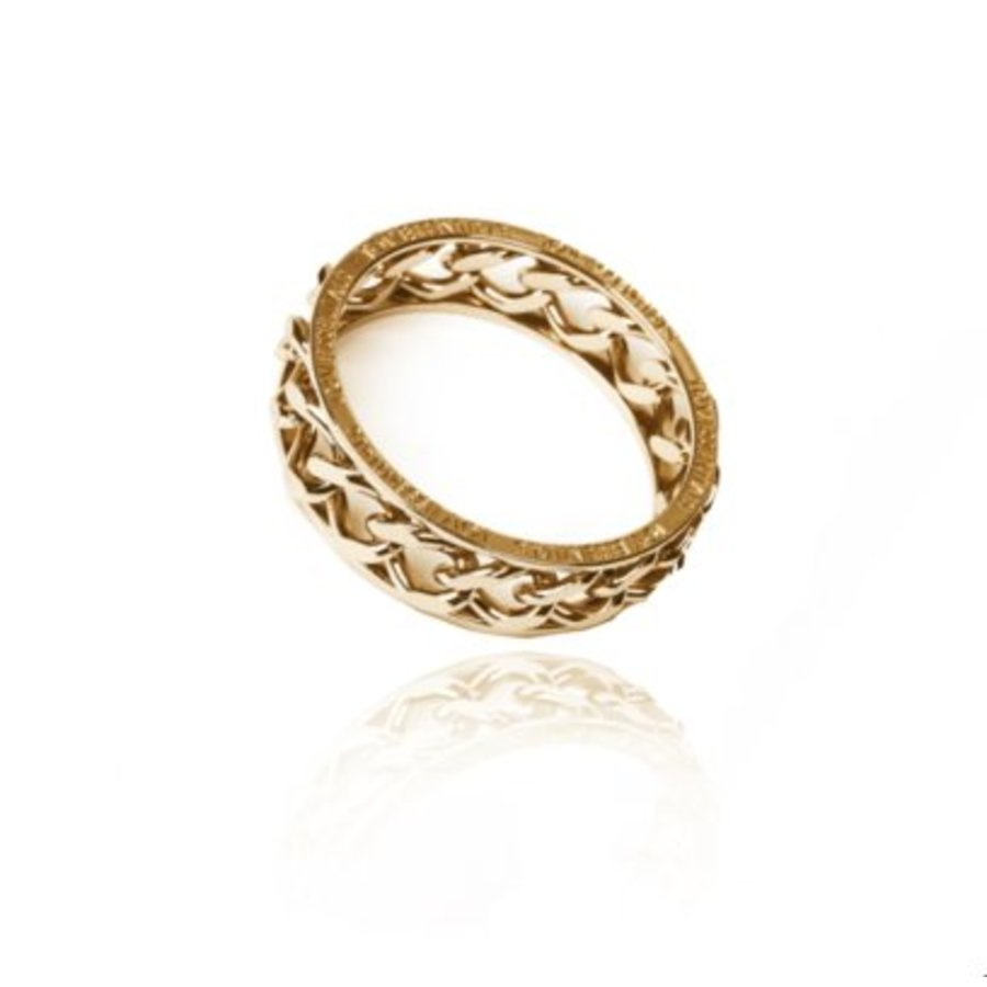Big chain bangle - Champagne goud