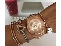 Metallic armband - Zilver/ Bronze metallic