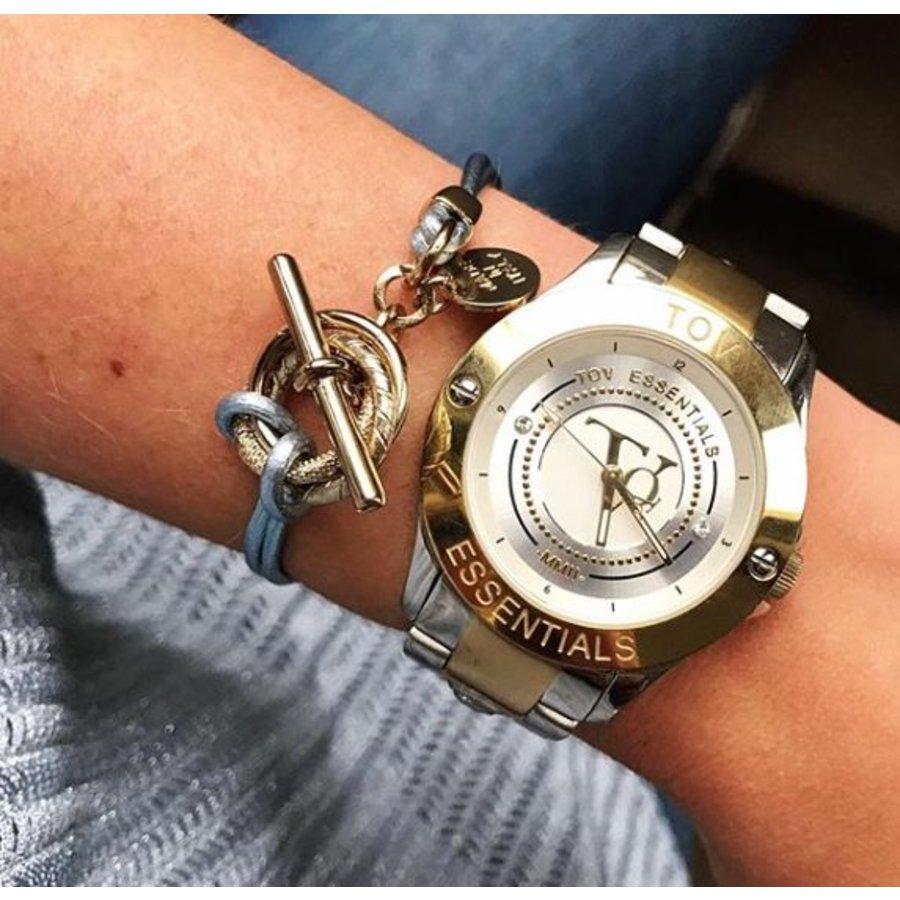 Metalic bracelet - Light gold/ Champagne metallic
