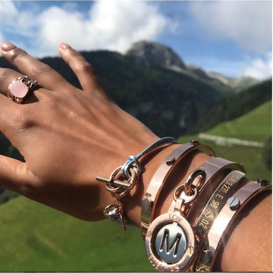 Metalic bracelet - Light gold/ Green metallic