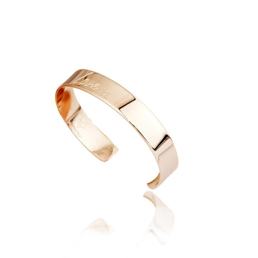 2 the moon & back cuff - Champagne goud