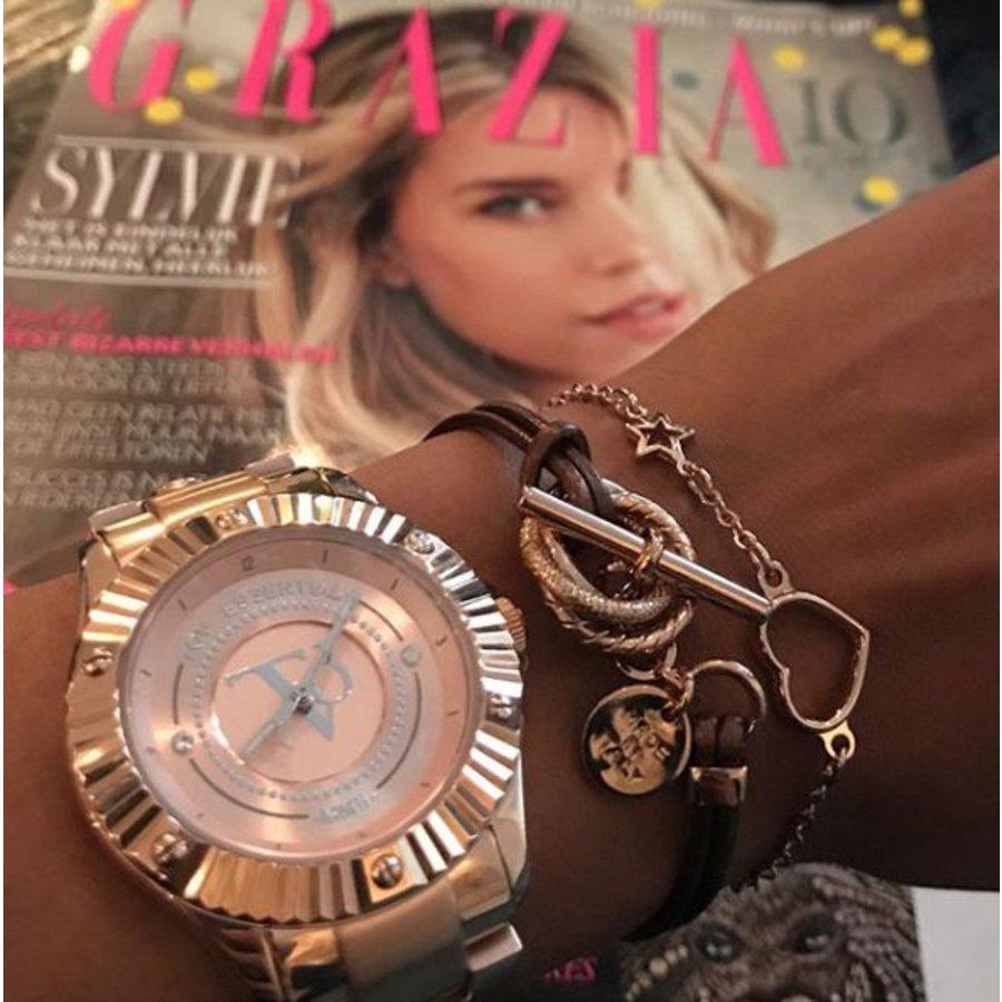 Metallic armband - Rosé/ Bronze metaal