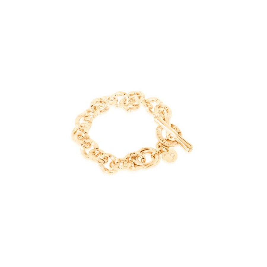 Small tri tweisted bracelet - Gold
