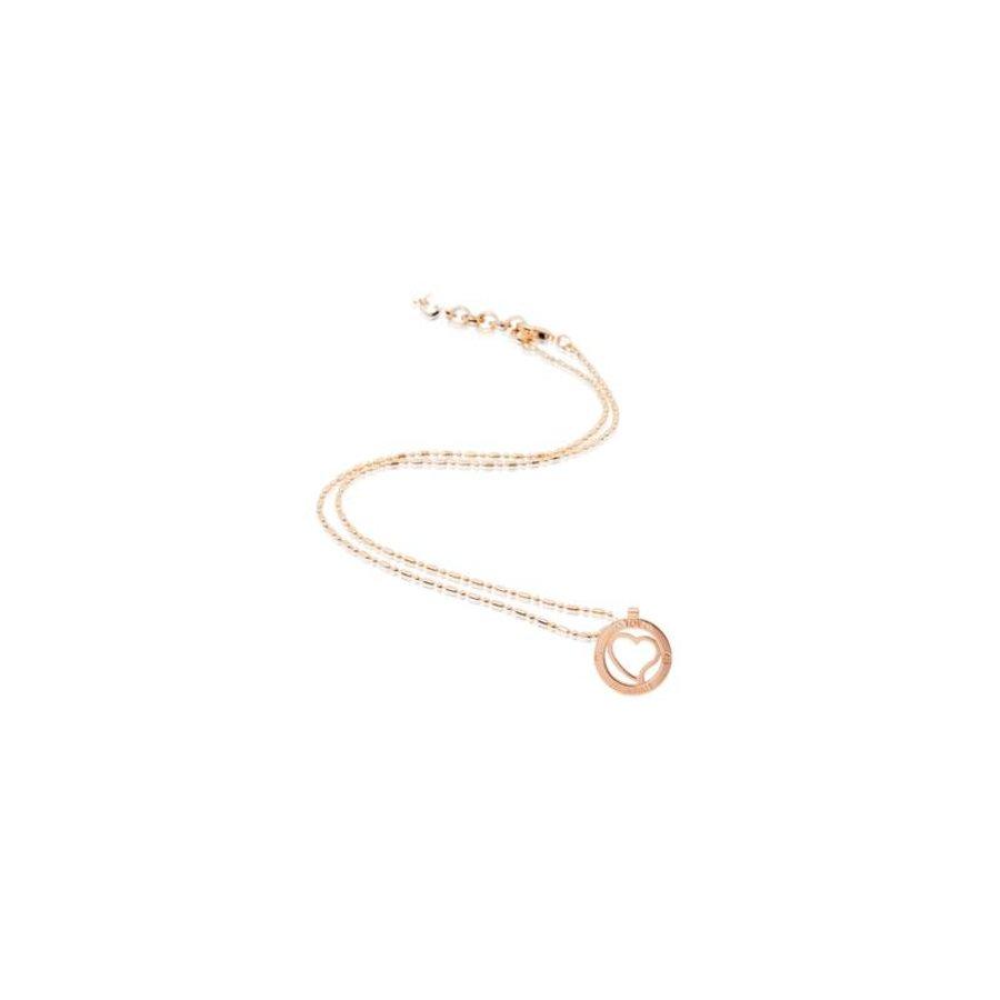 Heart medaillon 45cm ketting - Rosé