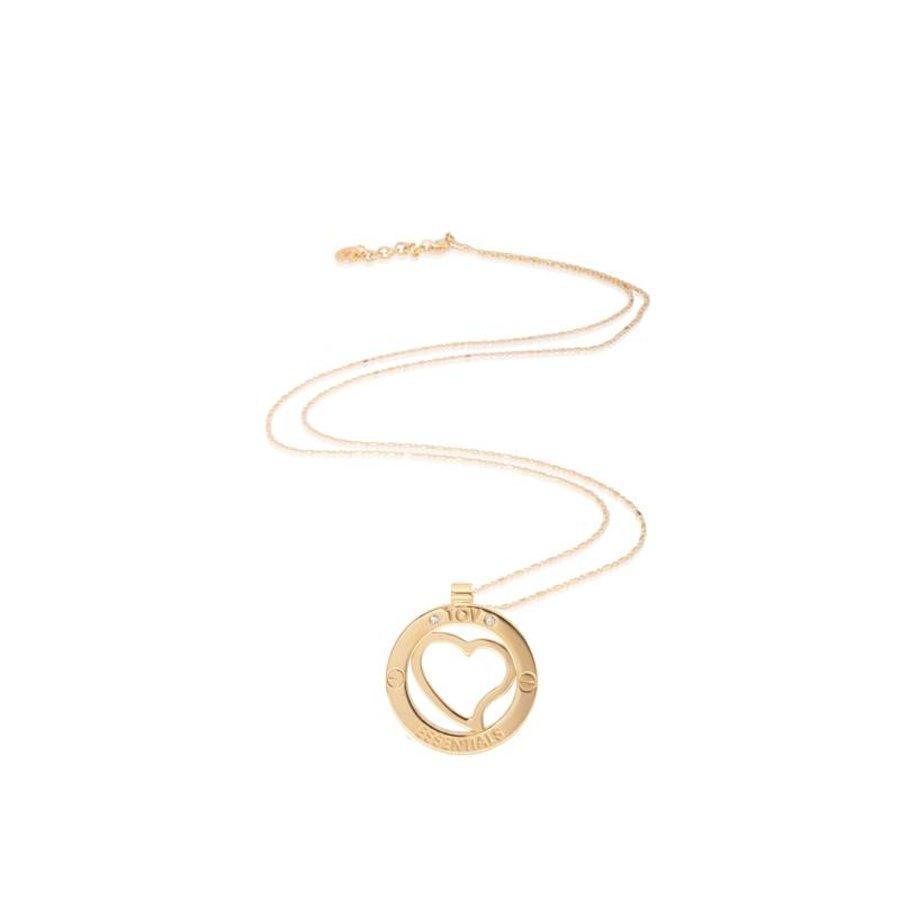 Heart medaillon 45cm ketting - Goud