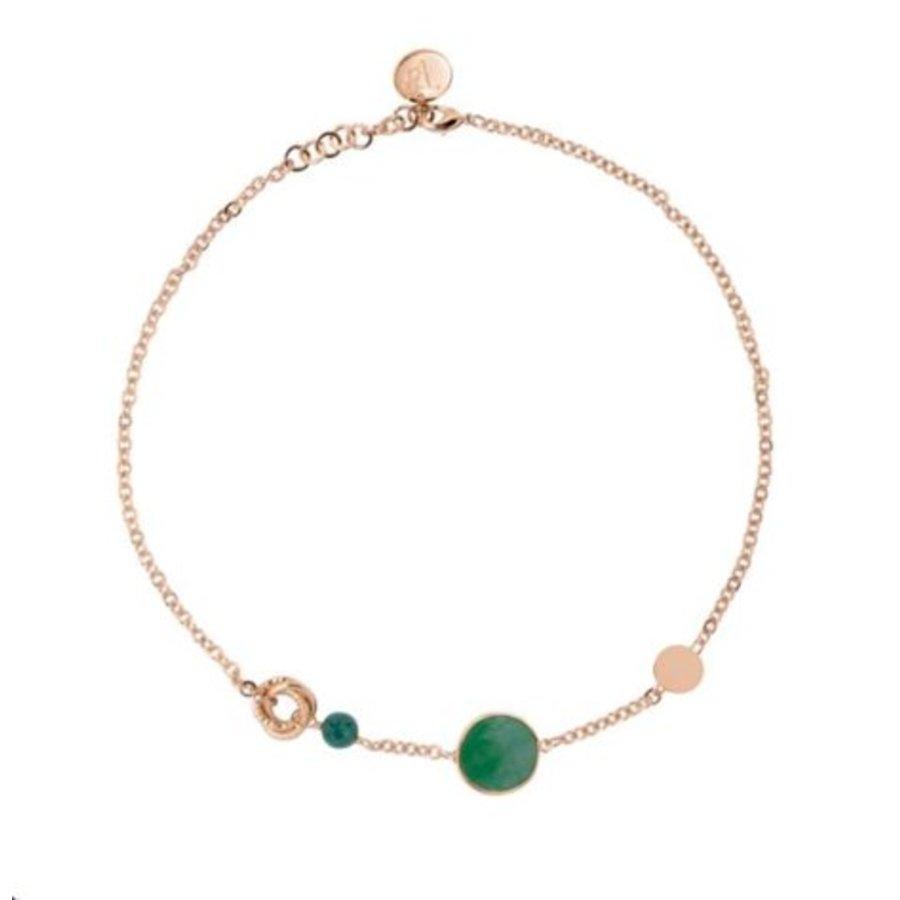 Mystic multi necklace - Rose/ Emerald