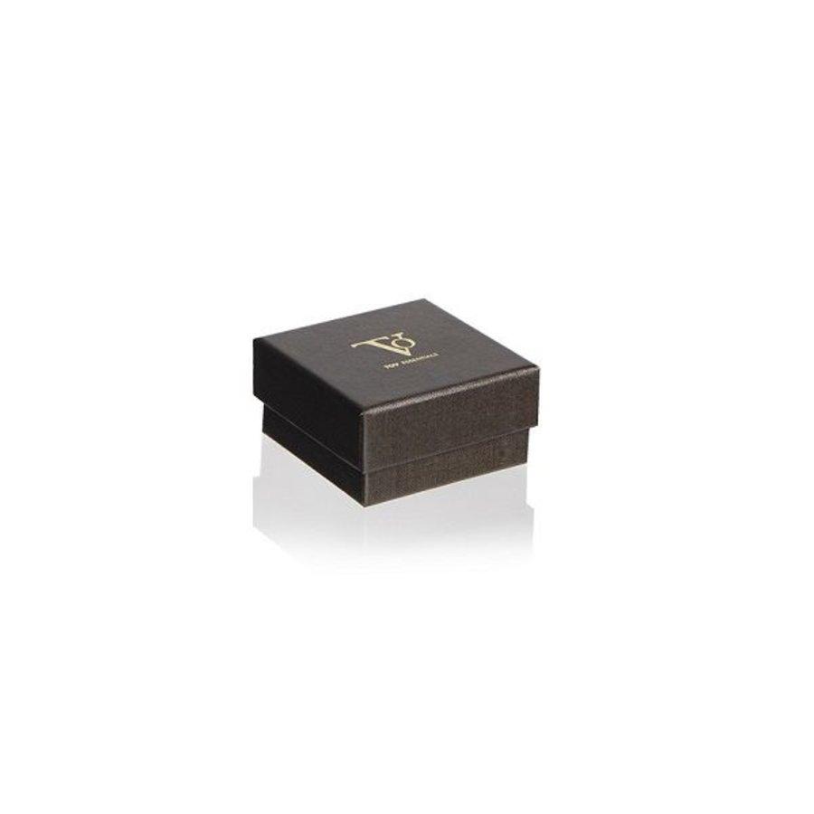 Phoenix stud oorbel - Gunmetal/ Zwart diamant