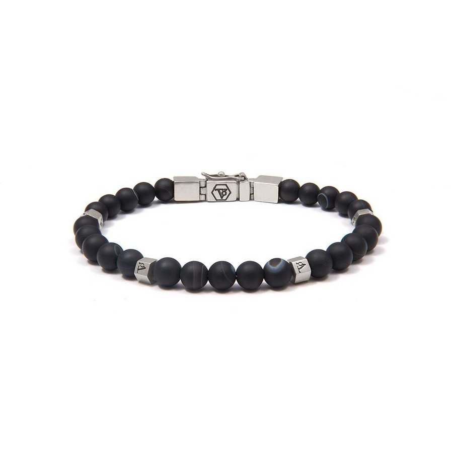 THE MEN WITH BALLS 6MM - BLACK - SILVER