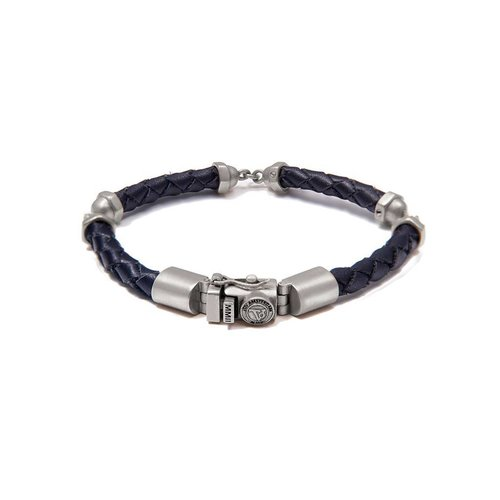 SCREW YOU BRACELET - DARK BLUE - SILVER