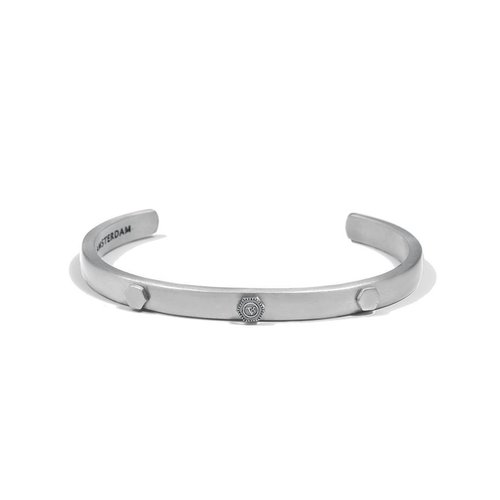 THE BOLD RIVET CUFF 6,5MM- SILVER