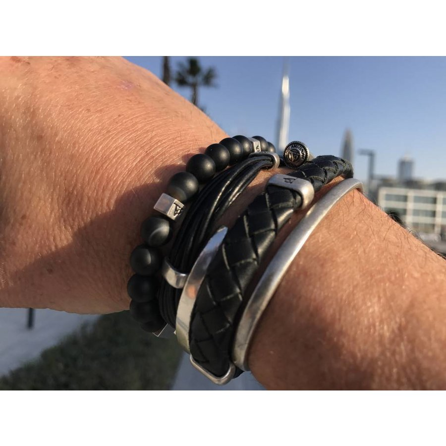 ELEPHANTS RULES - BLACK - SILVER PLATED