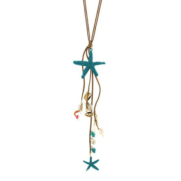 Necklace Evanthia, gold/turquoise