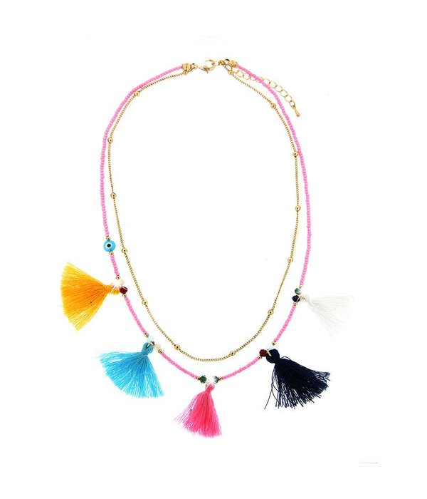Necklace Harda, gold/multi