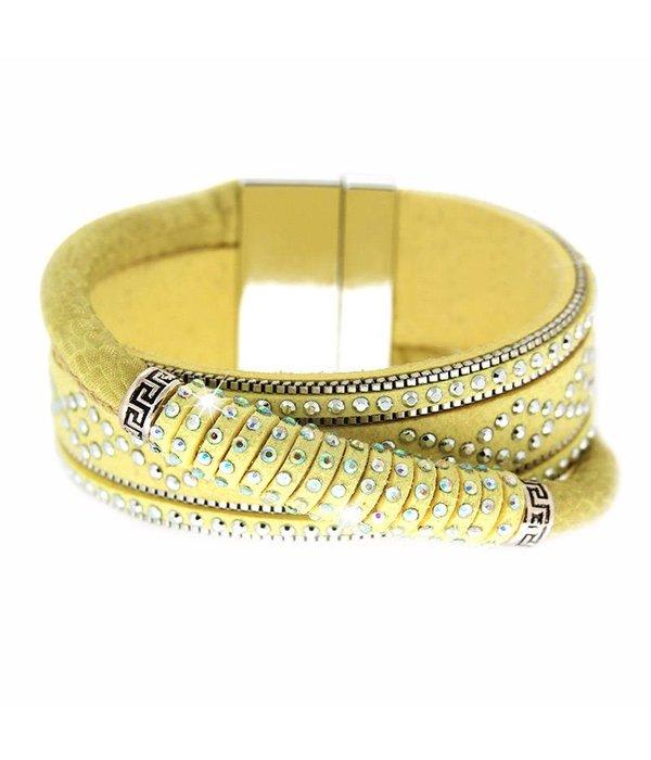 Bracelet Marisol yellow/silver/crystal