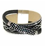 Armband Marisol schwarz/silber/crystal