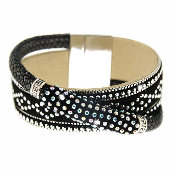 Bracelet Marisol black/silver/crystal