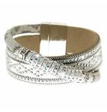 Armband Marisol weiß/silber/crystal