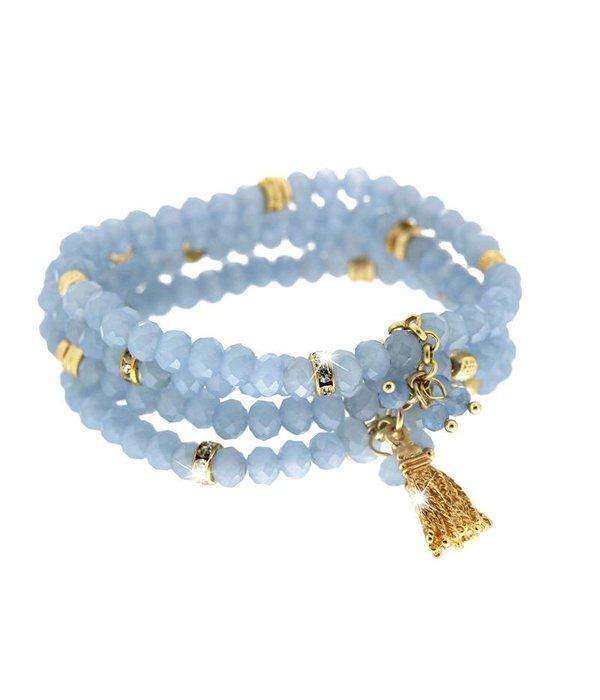 Bracelet Delia, blue/gold
